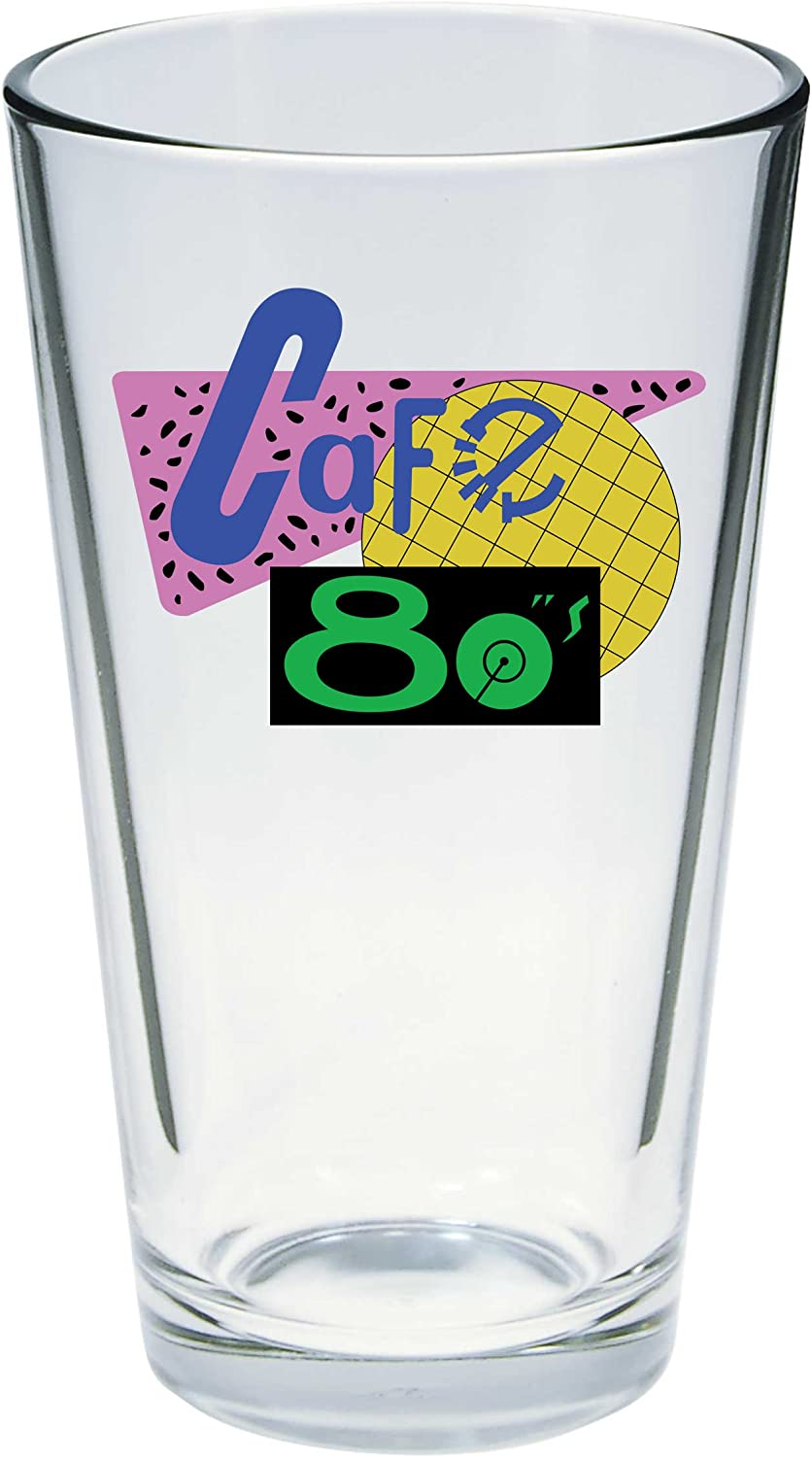 Cafe 80s Logo Pint Glass DIAMOND SELECT TOYS Back to The Future 2