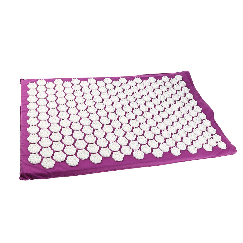 MagiDeal Acupressure Mat Neck Body Muscle Stress Meditation Yoga Massager Mat - Purple by Unknown (Image #1)