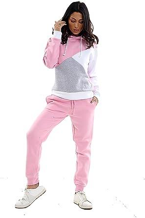 Parsa Fashions - Chándal - para Mujer Rosa Pink-Grey XL: Amazon.es ...