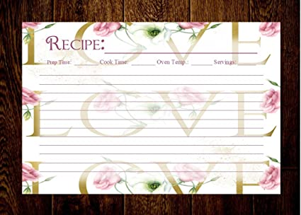 creative chef planners love recipe cards recipe cards for bridal shower recipe cards