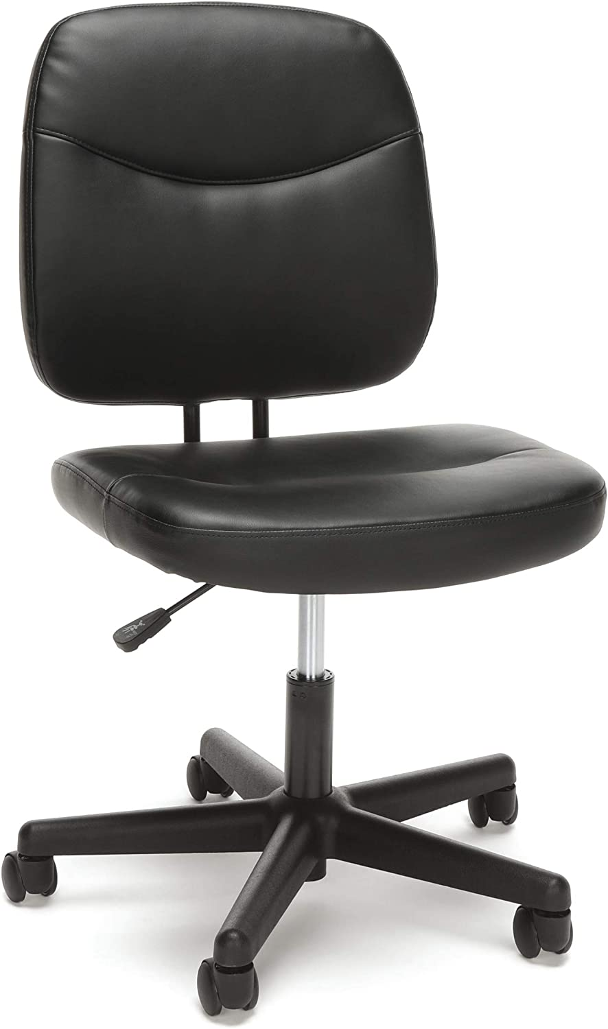 OFM Essentials Armless Leather Desk Chair – A quality office chair that comes with a lifetime warranty