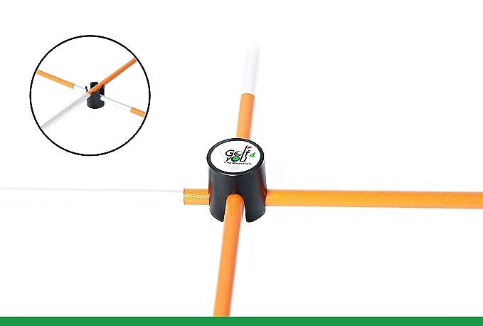 Amazon.com: Juego de 2 palos de alineación de golf naranja ...