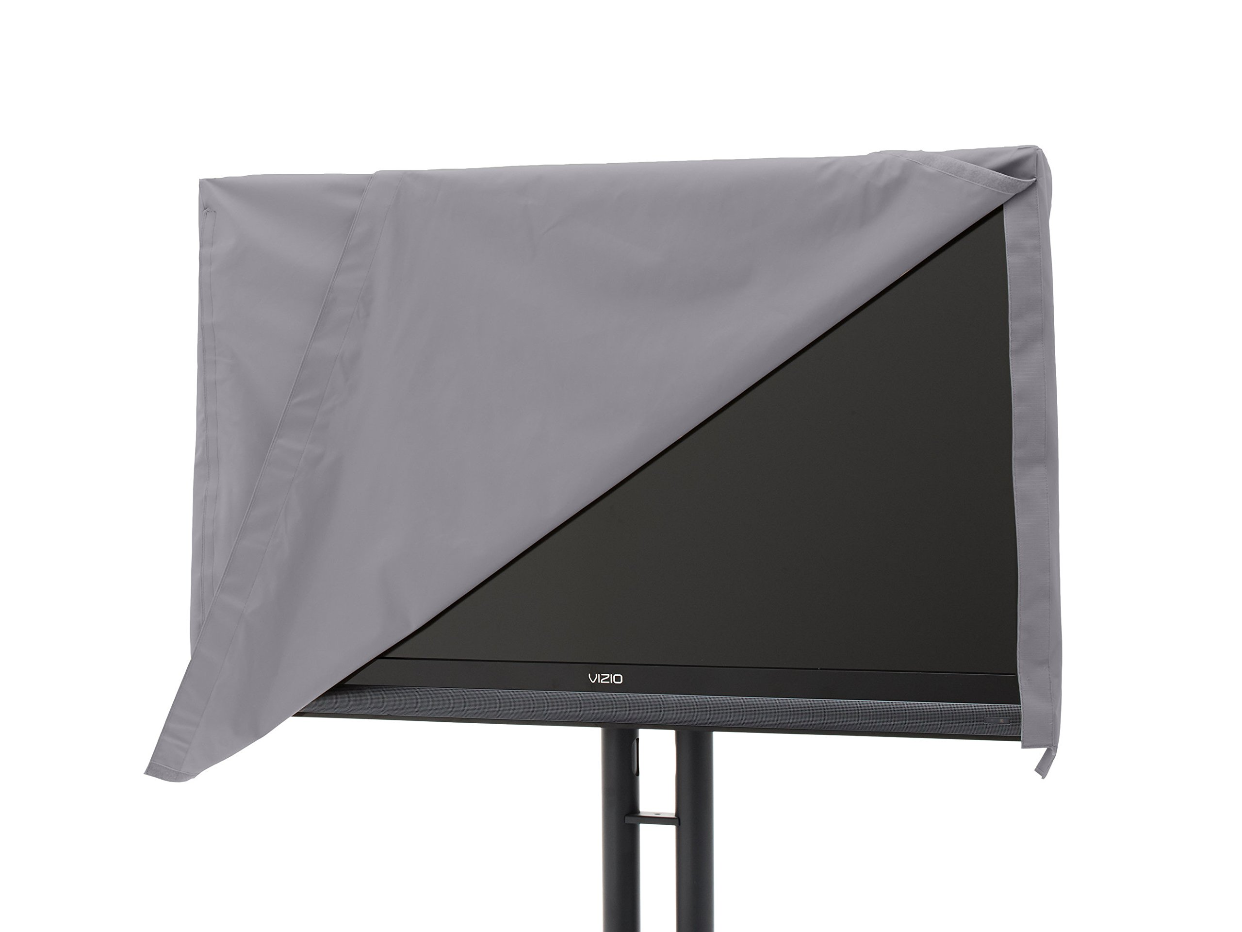 Covermates - Outdoor TV Cover - Fits 65 to 68 Inch TV's - Elite - 300 Denier Stock-Dyed Polyester - Full Coverage - Front Flip Top for Quick Viewing - 3 Year Warranty - Water Resistant - Charcoal