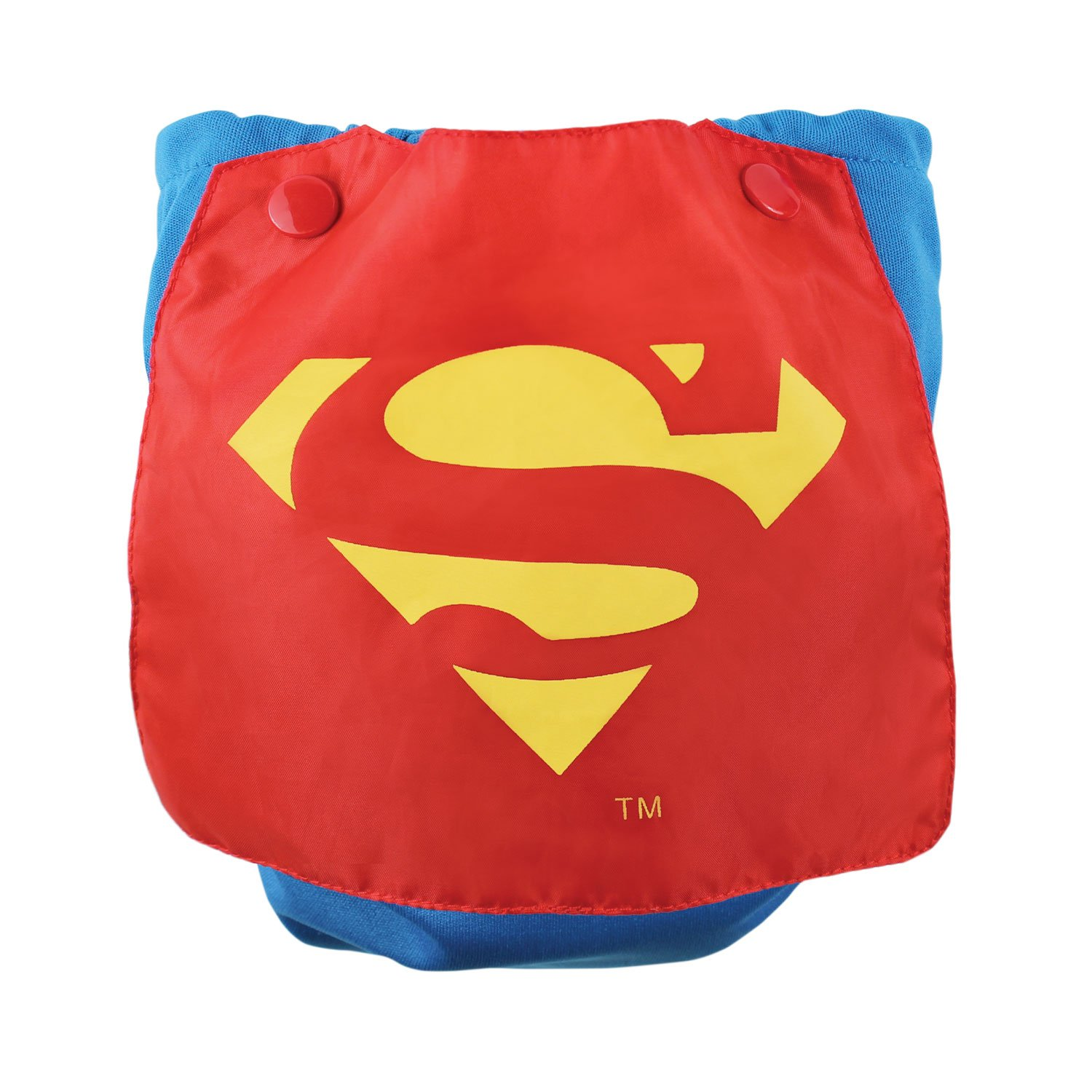 Bumkins DC Comics Caped Diaper, Superman AIOSBCP-WBSM