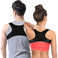 Posture Corrector, Aisprts Back Brace Support for Men and Women, Adjustable Upper Posture Brace Correction for Your Upper Back, Neck and Shoulder Pain Relief