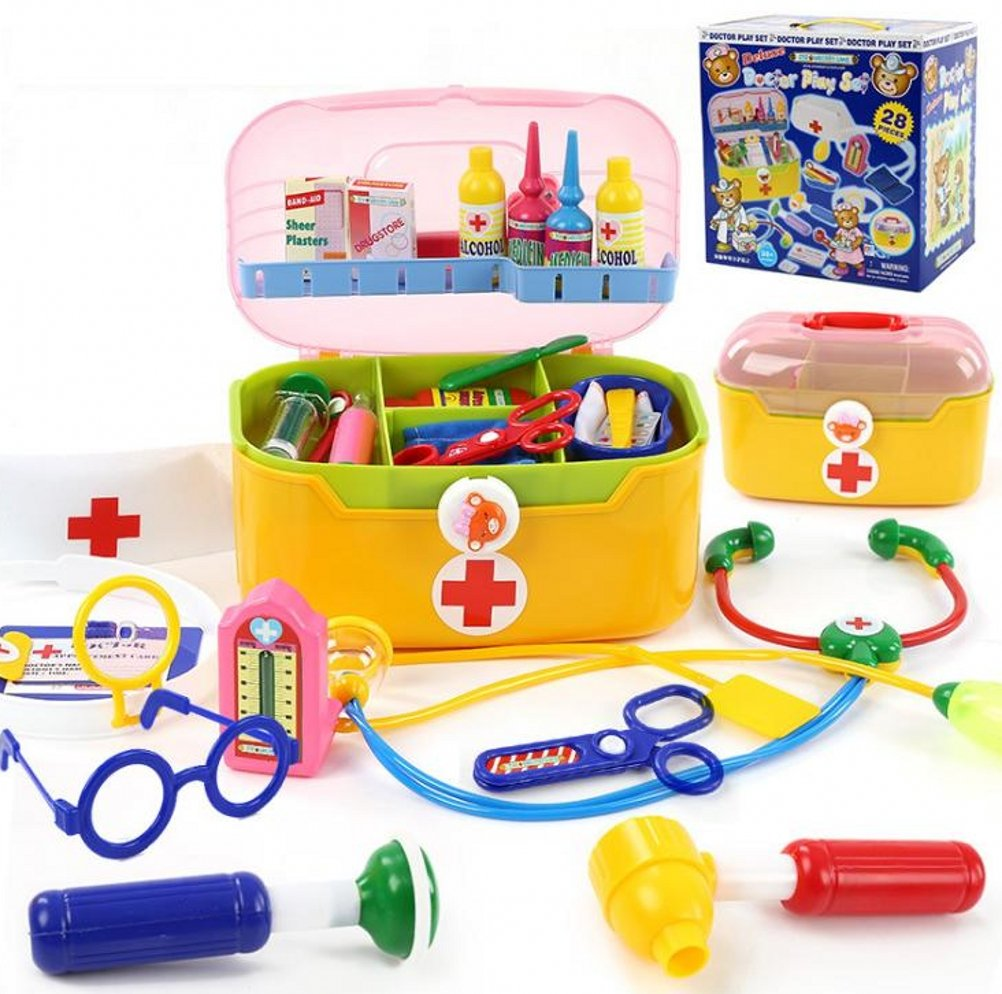 Venxic Mini Pretend Medical Kits Play Toys for Kids Doctor Play Set for Girls/Toddlers - 28 Pieces - 3+ Ages