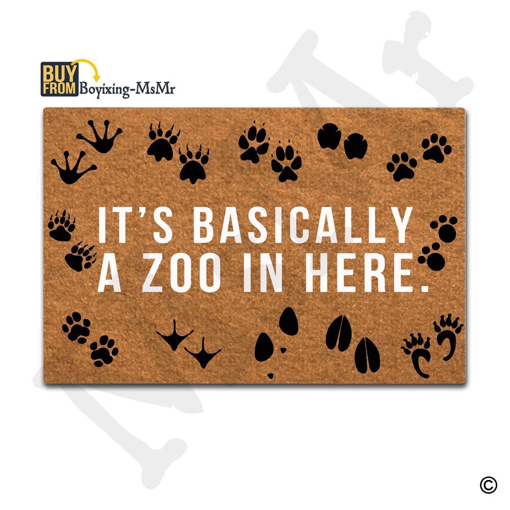 Amazon.com : MsMr Doormat Entrance Floor Mat It's Basically A Zoo ...