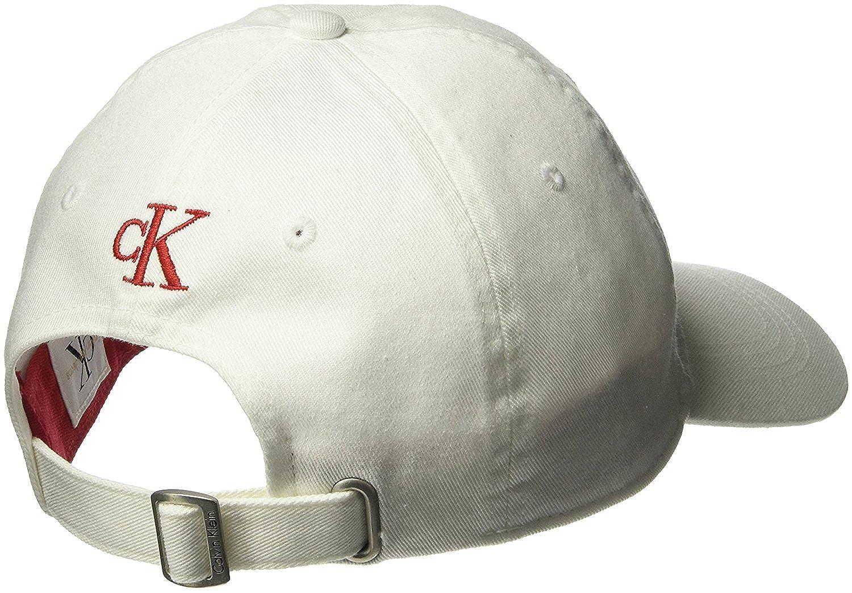 8ecb5deca Calvin Klein Men's White Pop Color Twill Logo Hat, Tango Red, One ...