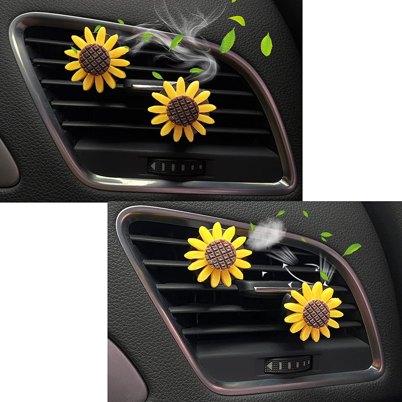ZHMNEG Bling Car Air Vent Clip Charm Car Decor, Bling Car Accessories for Women, Car Vent Clip-On Ornament, Rhinestone Glam Car Interior Decoration Charm