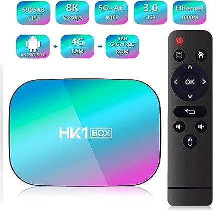 HK1 Box Android 9.0 Smart TV Box Amlogic S905X3 CPU 4GB RAM 128GB ...