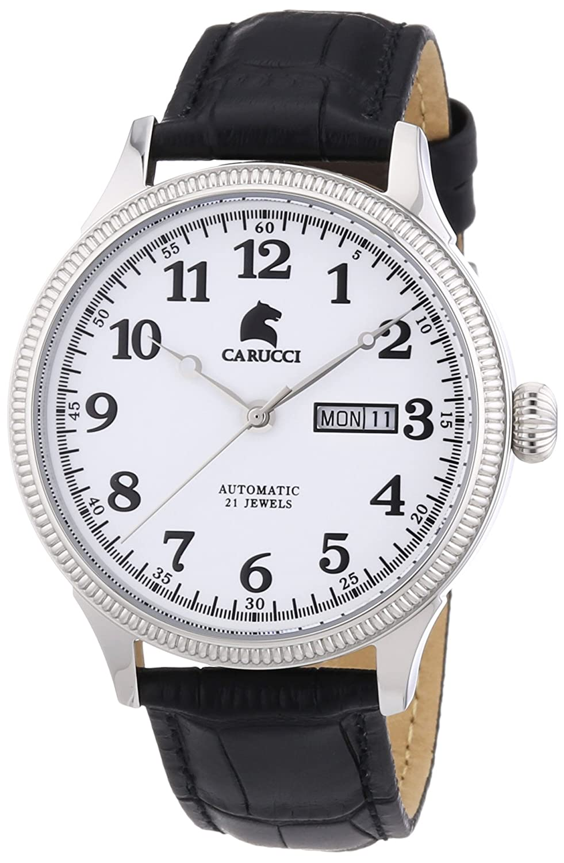Carucci Watches Herren-Armbanduhr XL Analog Automatik Edelstahl CA2209SL