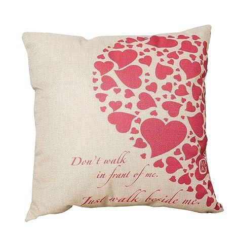 outflower diseño corazón Love funda de almohada (lino ...