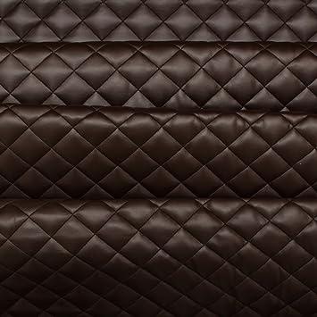 Tela de tapizado color Marrón Chocolate con acolchado en ...
