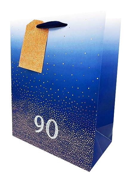 Bolsas de regalo de 90 cumpleaños para hombre, tamaño grande ...