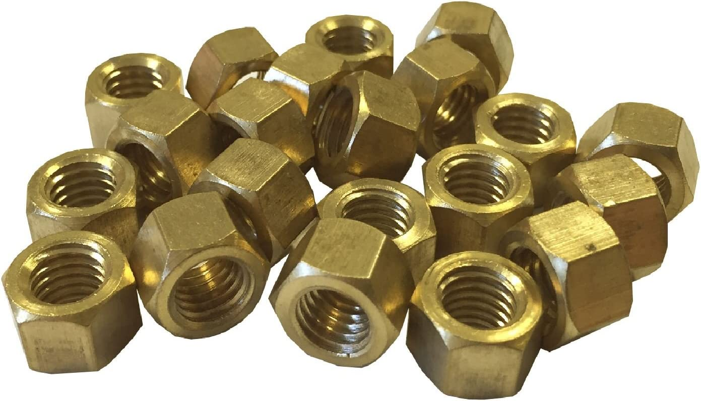 12 x Brass Exhaust Imperial Manifold Nuts 1//4 UNC High Temperature