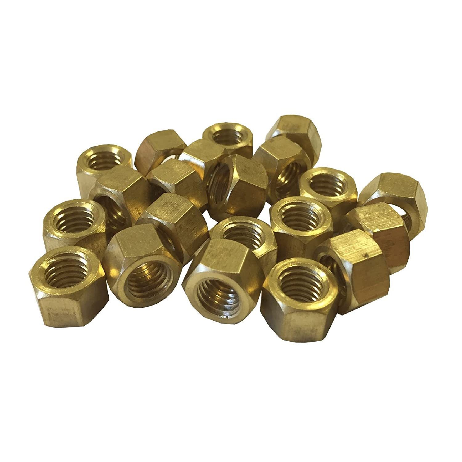16 x Brass Exhaust Imperial Manifold Nuts 1/4' UNF High Temperature Homesmart