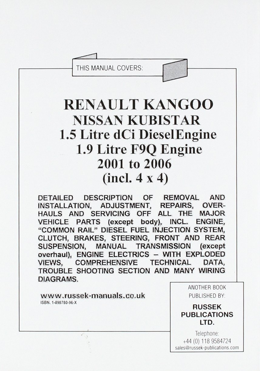 Renault Kangoo Ii Petrol Models 12 14 And 16 Litre Engine 8 Transmission Diagrams Valves To 2006 Pocket Mechanic Peter Russek 9781898780175 Books