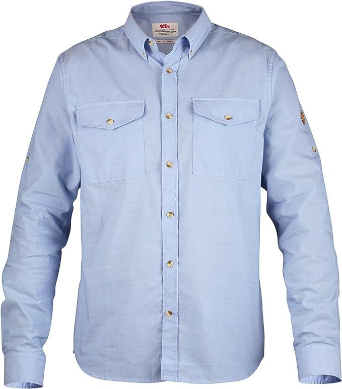 FJALLRAVEN Övik Chambray Shirt M Camisa de Manga Larga, Hombre, Blue Ridge, XS: Amazon.es: Ropa y accesorios