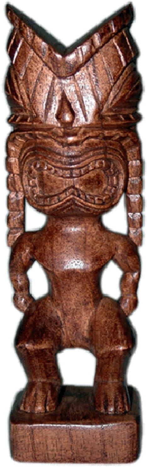 Tiki Hand Carved Wood Hawaiian God Statue Ku