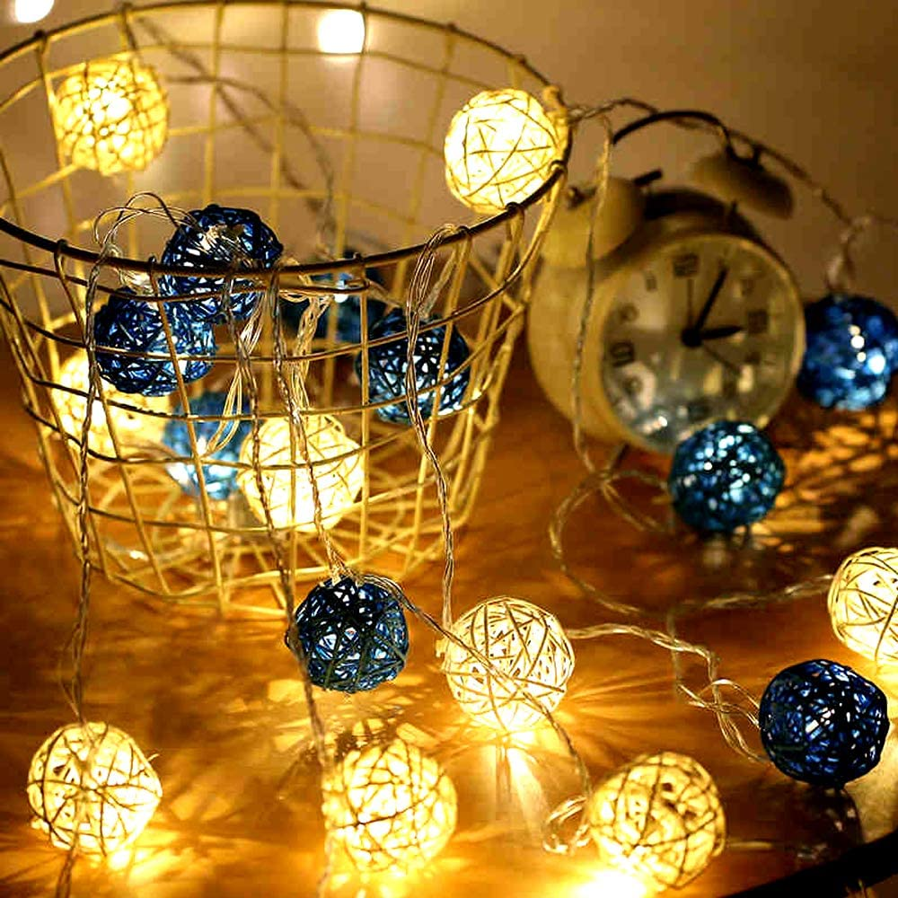 Aromatherapy Accessories,Orbs Vase Fillers 15pcs 2 Wedding Table Decoration,Themed Party,Baby Shower Wicker Rattan Balls Decorative Orbs Vase Fillers for Craft Project 15, White-Black-Brown