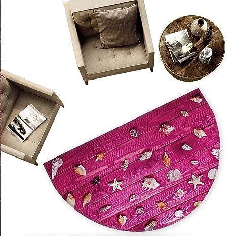 Amazon.com: Cojín semicircular rústico de flores de lila ...