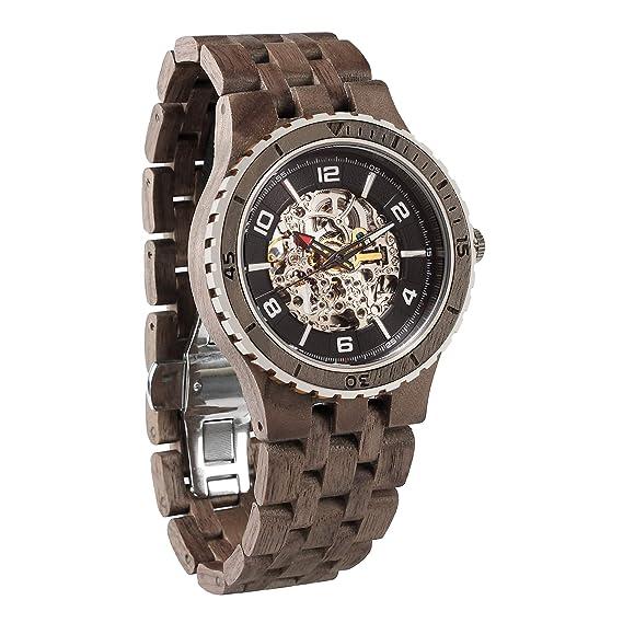 Wilds Revolution Relojes de Madera Premium Eco Movimiento Mecánico Automático: Amazon.es: Relojes