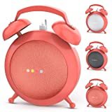 Google Home Mini Stand Holder, Retro Alarm Clock Stand Mount Base Protective Case Compatible with Google Home Mini (Orange) (Color: Orange)