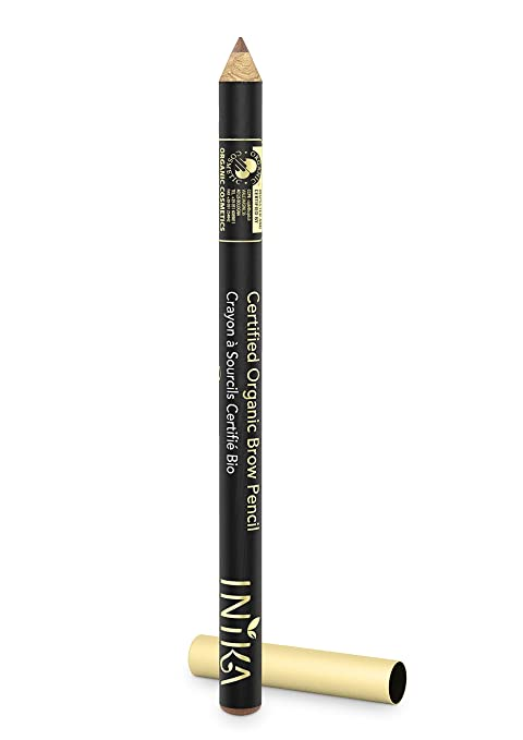 Amazon.com : INIKA Certified Organic Brow Pencil, All Natural Make Up Eyebrow Liner, Vegan, Halal, Cruelty Free 1.2 g (Dark Brunette) : Beauty