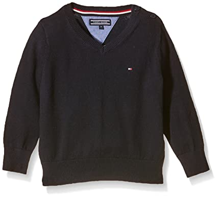 d29011544 Tommy Hilfiger Baby-Boys Tommy VN Sweater Long Sleeve Jumper, Blue  (Midnight), 68cm: Amazon.co.uk: Clothing