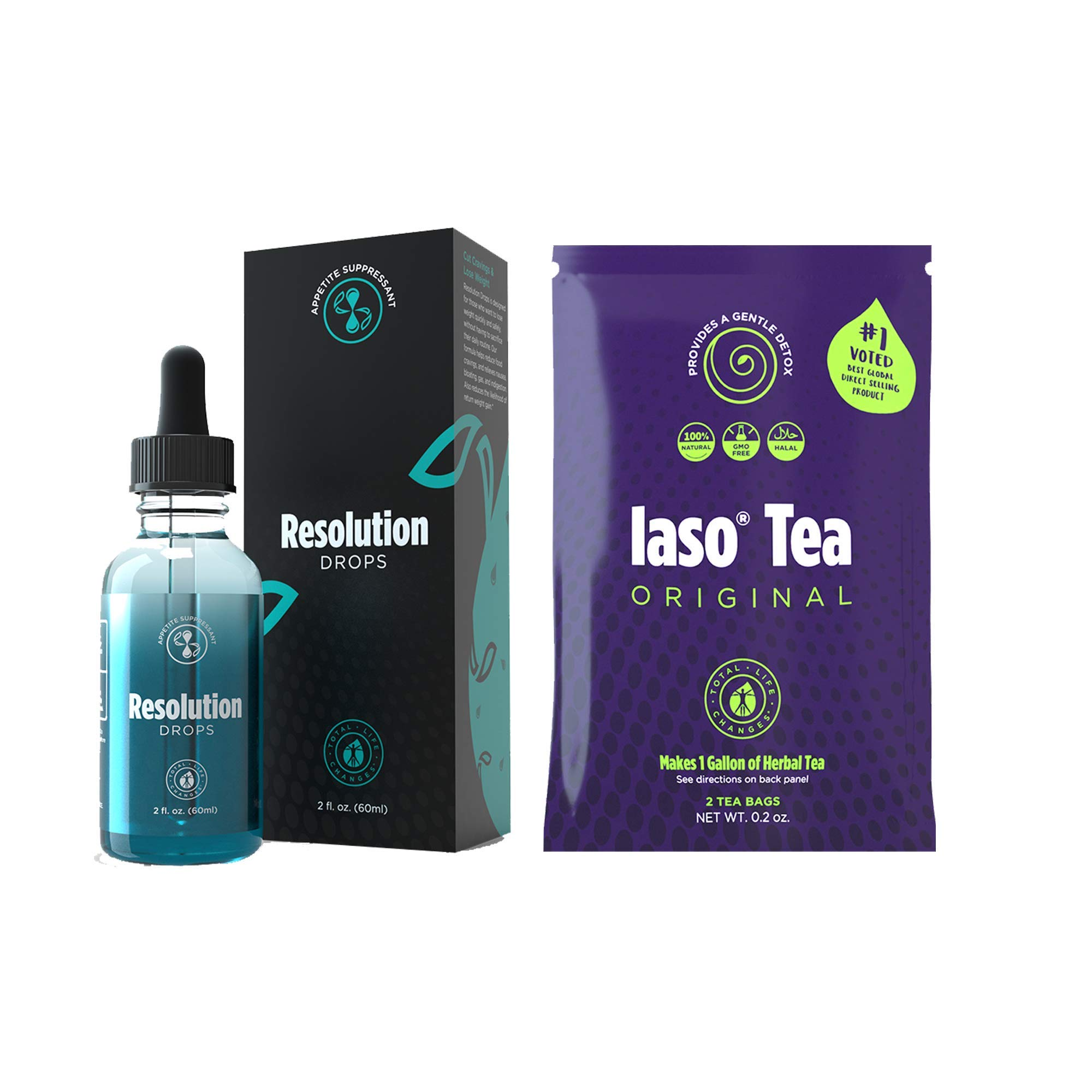 Total Life Changes Resolution Drops with 1 week supply of laso tea *Packaging May Vary Between Old & New in 2019