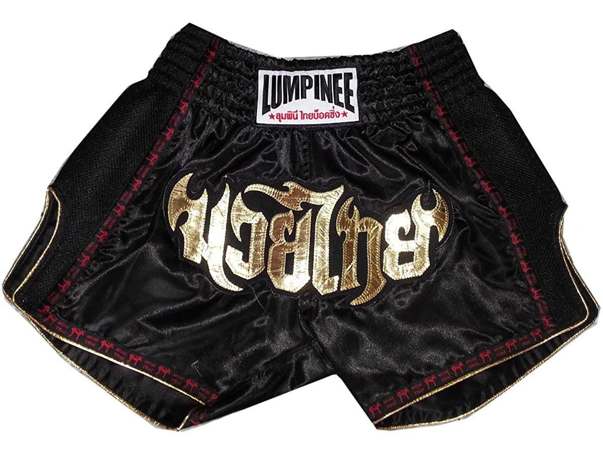 Lumpinee Retro Muay Thai Boxing Shorts LUMRTO-003-Black size M