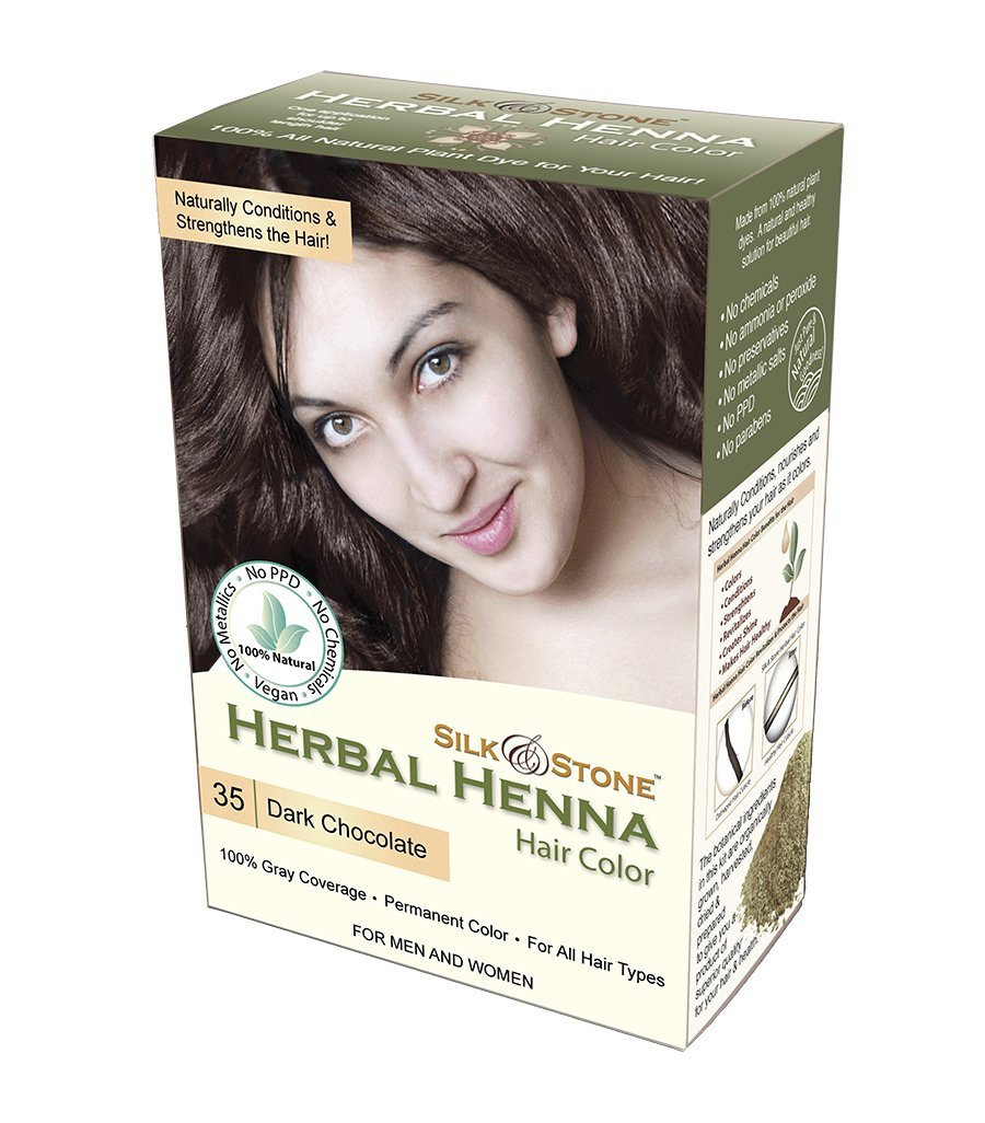 Amazon Com Herbal Henna Hair Color 35 Dark Chocolate Dark Brown