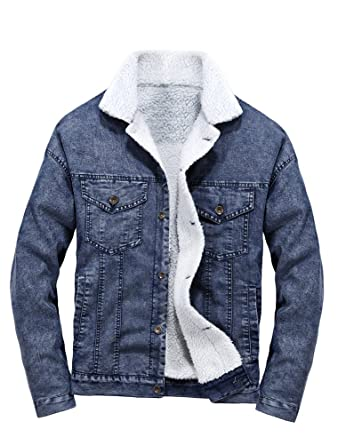 official photos 9e57f ac17c MatchLife Classics Herren Jeansjacke Winter Denim Jacket Gefütterte Jeans  Jacke Winterjacke