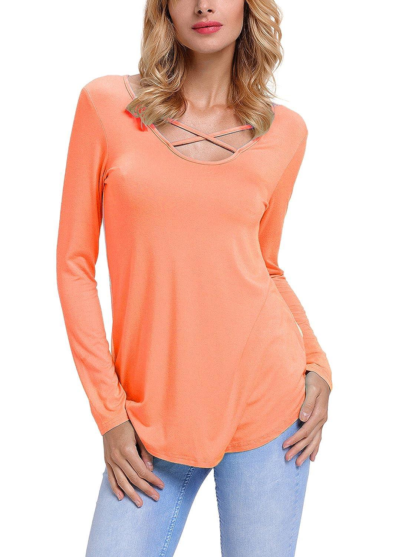 HOTAPEI Women Casual Floral Print Back Short Sleeve Criss Cross V Neck Blouse Tops H250119-P