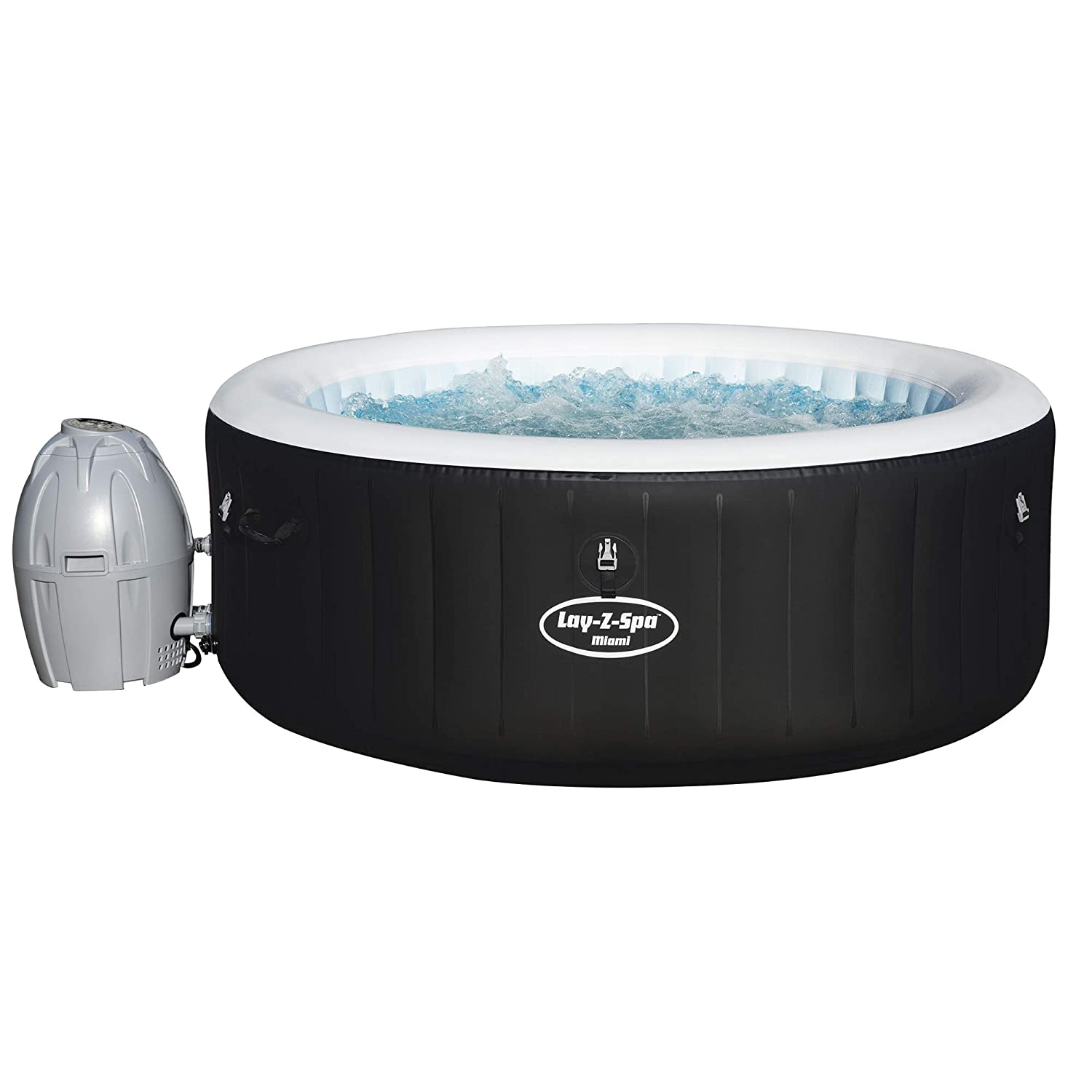 Attraktiva Lay-Z-Spa Miami Hot Tub, AirJet Inflatable Spa, 2-4 Person: Amazon LL-89