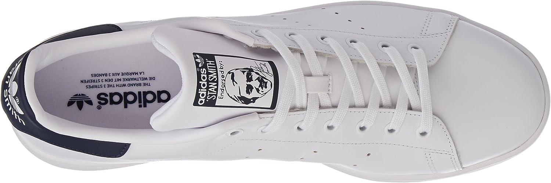 adidas Stan Smith, Chaussures de Gymnastique Homme White White Dark Blue