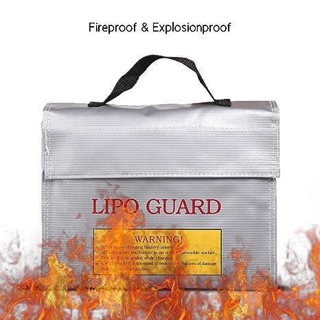 d61aead4e aibecy mano festes refractario explosionssicheres de seguro de batería Lipo Bolsa  de portátil Resistente al calor para la carga y de bolsa de la ...