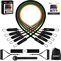 OMMO Resistance Bands Set with Handles,5 Training Tube Resistance Bands for Men Women with Door Anchor, Handles…