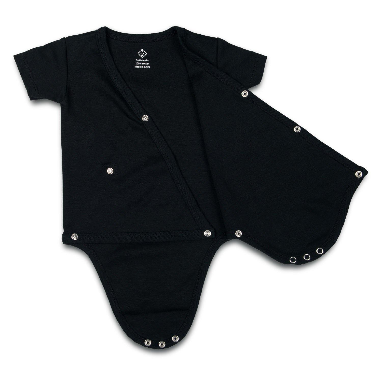 Amazon.com: opawo negro Unisex Bebé de manga corta Kimono ...