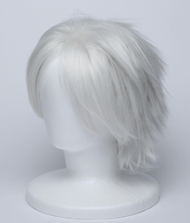 [] Cosplay accesorios de pelo de plata peluca de pelo blanco NARUTO Hatake Kakashi-estilo herramienta traje de Naruto peluca espantapajaros neta: Amazon.es: ...