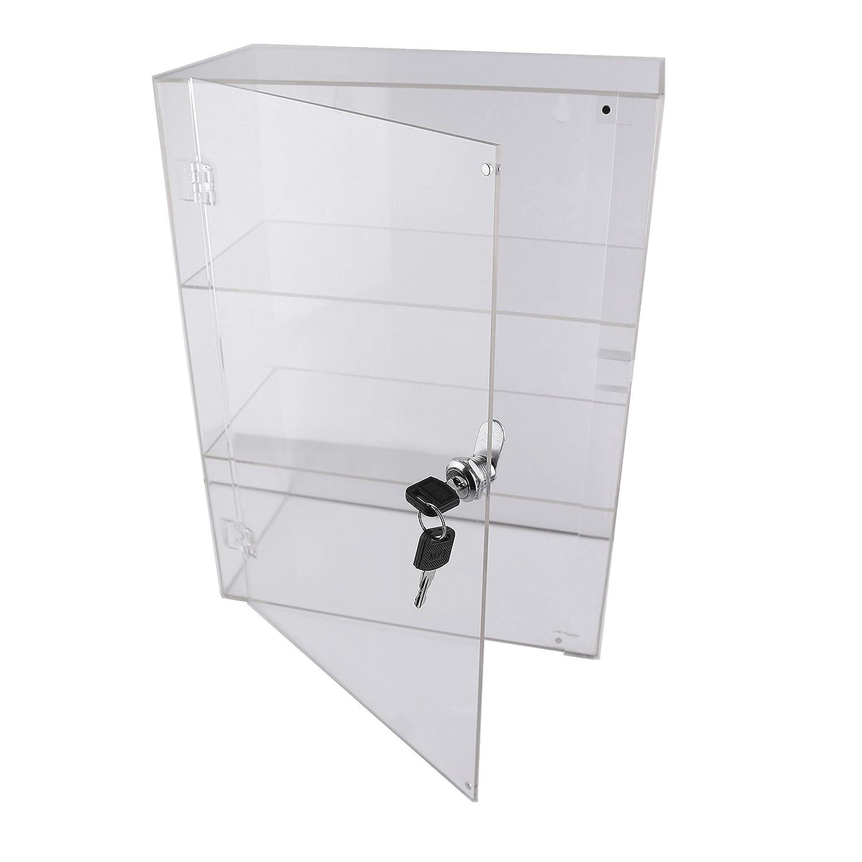 PC3721/® 1 Vitrina de acr/ílico Transparente de Alto Brillo con 1 Estante y una Puerta Frontal con Bloqueo de Seguridad DB199D-08HZ