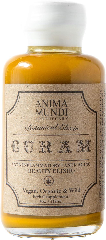 Anima Mundi Curam Organic Beauty Elixir - Powerful Vitamin C Foods for Skin Detox & 'Anti Aging' Support with Turmeric + Camu Camu for Smoothies, Juice or Teas - Vegan (4oz / 118ml)