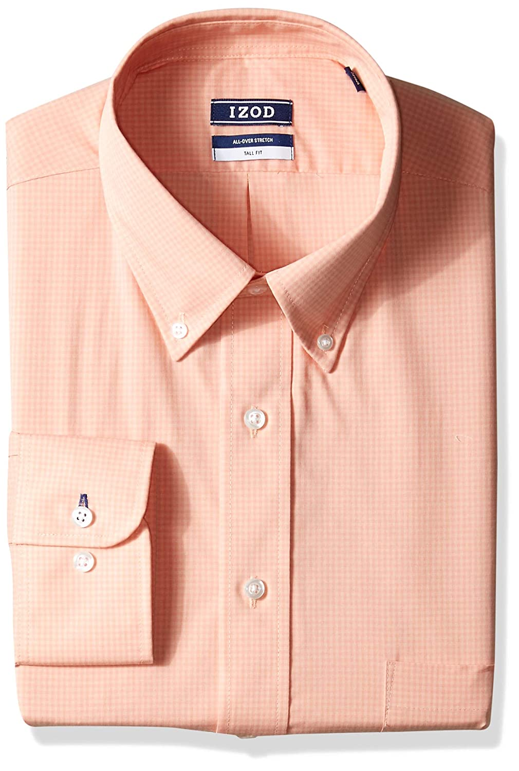 Big and Tall Izod Mens TALL FIT Dress Shirt Stretch Check