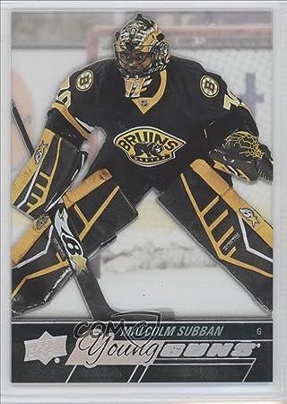 Malcolm Subban Hockey Card 2015 16 Upper Deck Young Guns Acetate