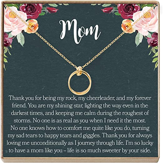Necklace Dear Ava Mom Gift Necklace: Mother Necklace 2 Interlocking Circles Mother Daughter