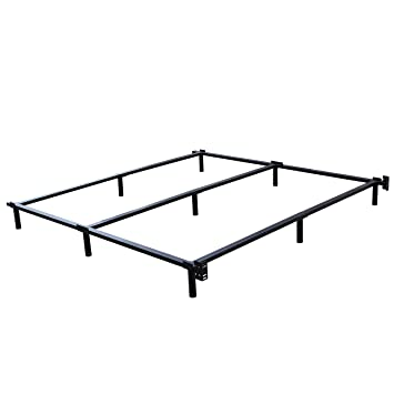 swascana stt heavy duty easy assemble steel bed frame box spring and mattress foundation king - Wire Bed Frame