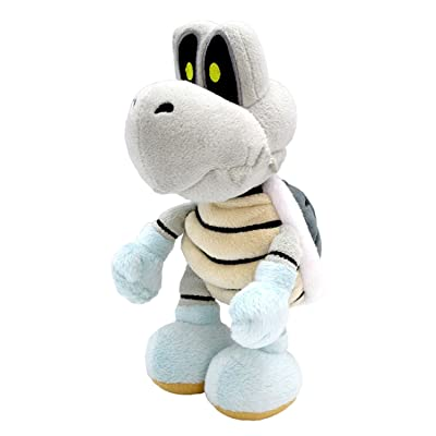 "Little Buddy Super Mario All Star Collection 1598 Dry Bones Stuffed Plush, 8"",Multi-Colored: Toys & Games"