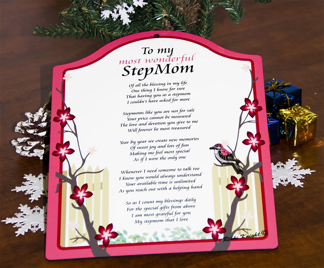 To my Most Wonderful StepMom Touching 8x10 Poem with Full Color ...
