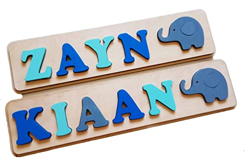 Personalized Busy Board with Animals Jigsaw Puzzles with Custom Name Montessori Toys for Toddlers Kid Gifts