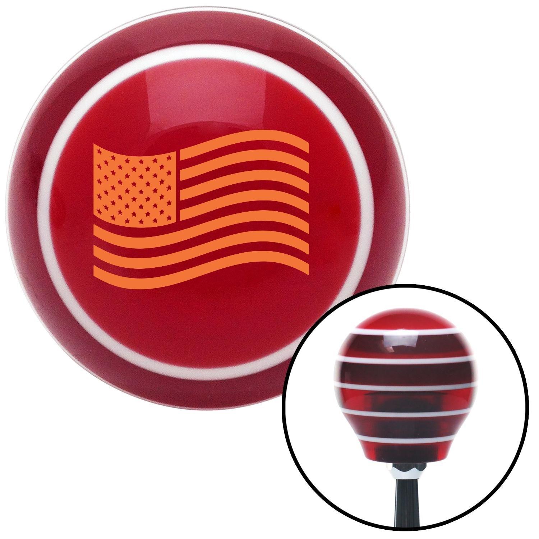 Orange US Flag American Shifter 119551 Red Stripe Shift Knob with M16 x 1.5 Insert